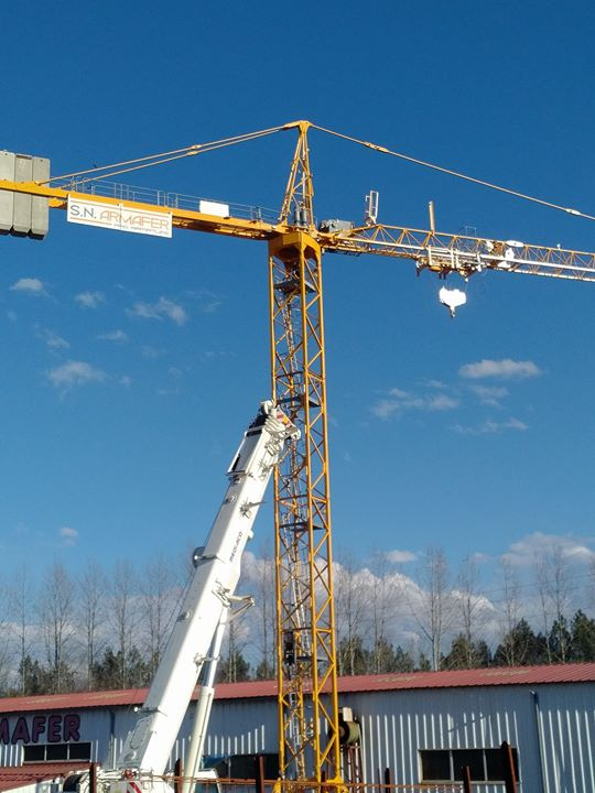 pro armature - SN ARMAFER monte sa nouvelle grue